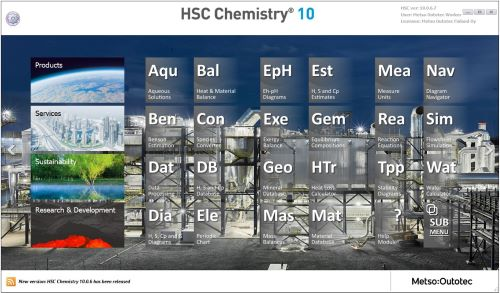 Hsc chemistry the current hsc version 9 contains 24 calculation modules ccuart Choice Image